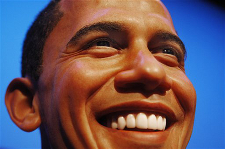 APTOPIX Germany Madame Tussauds Obama