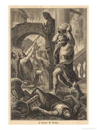 10013045~The-Fall-of-Rome-Alaric-s-Visigoths-Sack-Rome-Displaying-a-Deplorable-Lack-of-Esthetic-Appreciation-Posters
