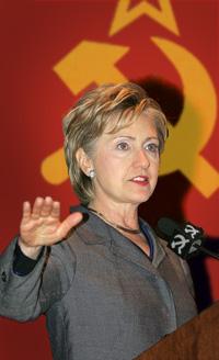 Hillary Soviet Salute