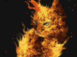 Fire_cat_by_Artelfic