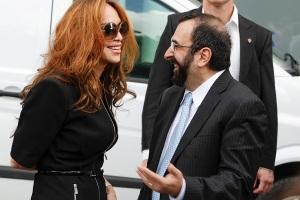 US anti-Islam activists Pamela Geller (L