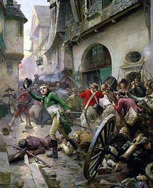 Henri de La Rochejacquelein at the Battle of Cholet in 1793 by Paul-Émile Boutigny, Musée d'art et d'histoire de Cholet, Cholet, France.