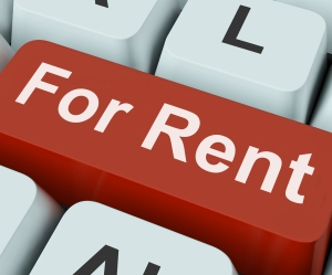 For Rent Key Means Lease Or Rental.