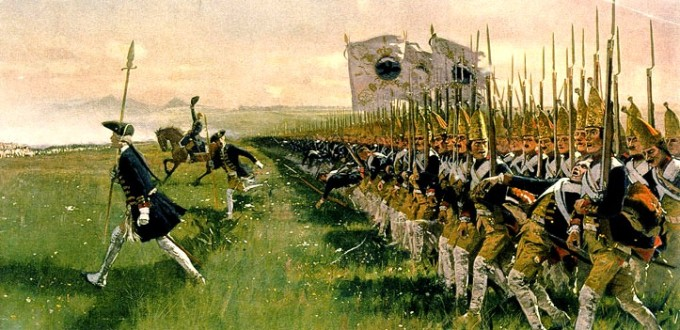 Hohenfriedeberg_-_Attack_of_Prussian_Infantry_-_1745