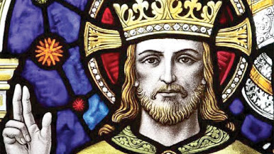 Christ the King stained glass [Wide]